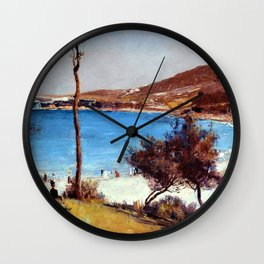 Holiday Sketch At Coogee - Tom Roberts Wall Clock