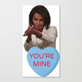 Nancy Pelosi Fuck You Clap Valentine Canvas Print