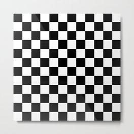 Checkered Black and White Metal Print