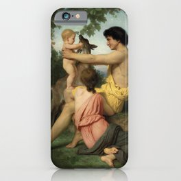 "William-Adolphe Bouguereau ""Idylle: famille antique"" iPhone Case"