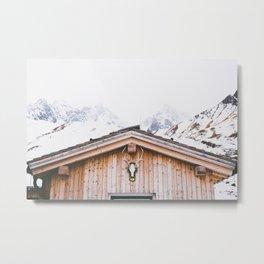 Mountain hut. Alp Wanderlust Serie. Fine Art Travel Photography.  Metal Print