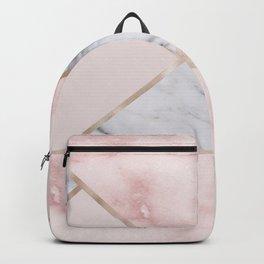 Geometric mix up - rose gold Backpack