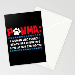 Pawma Definition Design für eine Oma von niedlichen Hunden print Stationery Cards