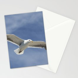 Wildlife Seagull flying Stationery Cards