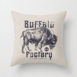 BUFFALO FACTORY  Vintage Buffalo Throw Pillow