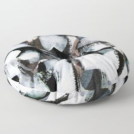 abstract brush painting Floor Pillow