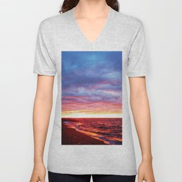 Sunset Saturation Unisex V-Neck