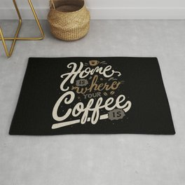Home is where you coffee is Rug
