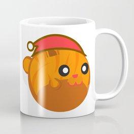 Merry Christmas Orange Tabby Cat Santa Hat Coffee Mug