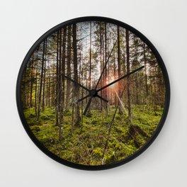 In the woods sun shine Wall Clock