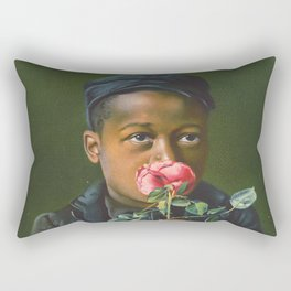 Vintage African American Art Rectangular Pillow