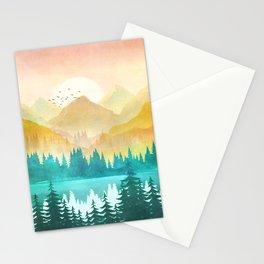 Summer Mountain Sunrise Stationery Cards