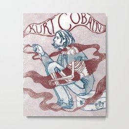kurt smoking Metal Print