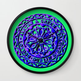 Blue Coalhole Cover Wall Clock