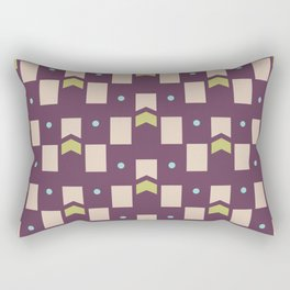 Art Deco Geometric Pattern 273 Rectangular Pillow