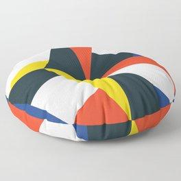 Mid Century Primary 02 Floor Pillow
