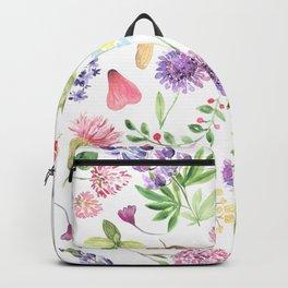 Watercolor Wildflowers #1 Backpack