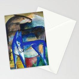Franz Marc - Zwei Blaue Esel - Pferd und Esel - Two Blue Donkeys - Horse and Donkey Stationery Cards