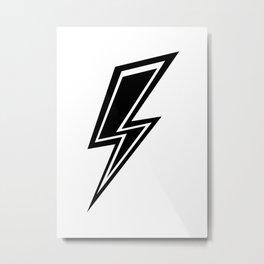 Lightning - Black and White Metal Print