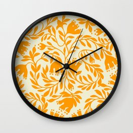Impression indienne yellow sun. Wall Clock