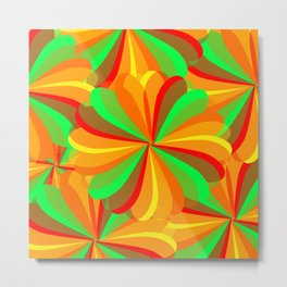 Retro Hip Multi-colored  Summer Pattern Metal Print