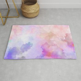 Pastel Clouds-Pink and Blue #homedecor Rug