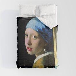Jan Vermeer Girl With A Pearl Earring Baroque Art Comforters