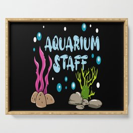 Aquarium Staff Fish Holder Motif Serving Tray