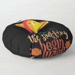 Let The Stuffing Begin Turkey Family Thanksgiving Floor Pillow