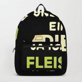 Car Diesel driver ban funny slogan humorous Backpack