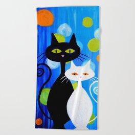 Fancy Cats Beach Towel