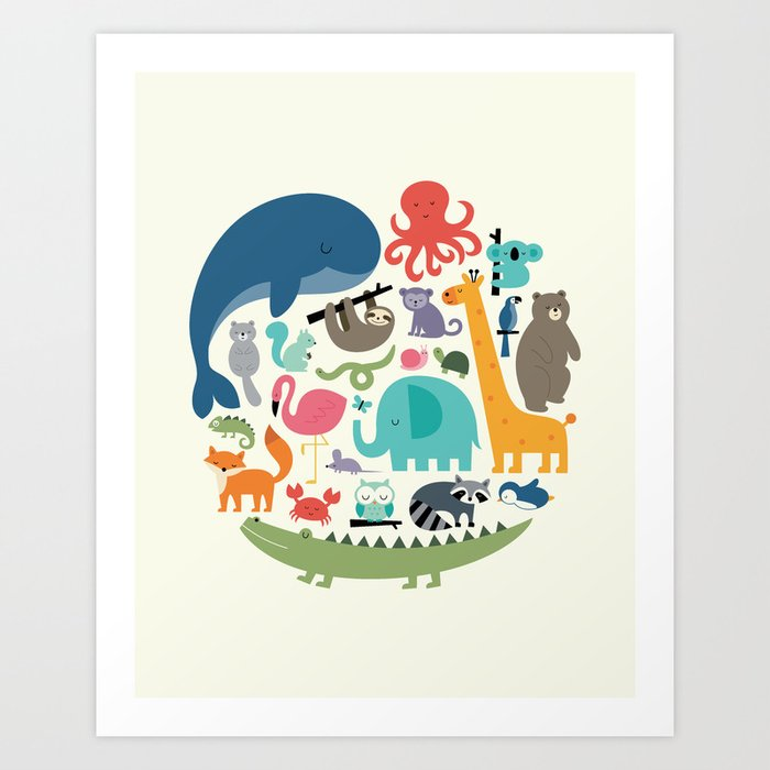 Discover the motif WE ARE ONE by Andy Westface as a print at TOPPOSTER