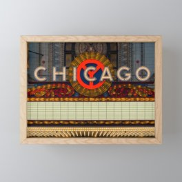 Glowing Chicago Framed Mini Art Print