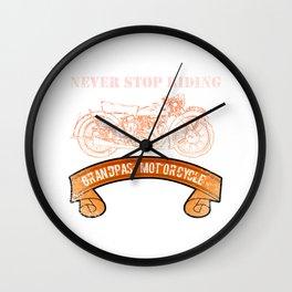 Motorcycle Grandpas  Vintage Design Motors Wall Clock