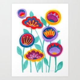 raw flower garden Art Print