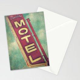Paradise Motel Sign Stationery Cards