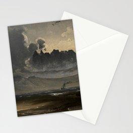 Peder Balke - The Mountain Range Trolltinderne - Norwegian Oil Painting Stationery Cards
