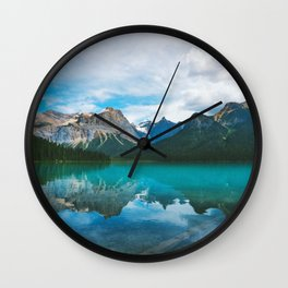 The Mountains and Blue Water - Nature Photography Wall Clock