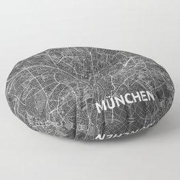 Munich, Germany street map Floor Pillow
