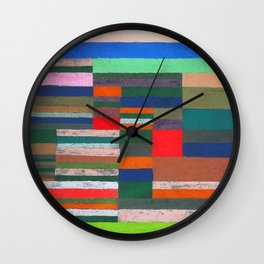 Paul Klee Altimetry of Layers Wall Clock