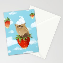 Strawberry cat Stationery Cards