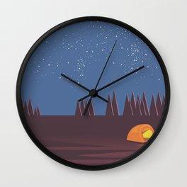 Camping under the Stars Wall Clock