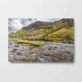 Llanberis Pass Snowdonia Metal Print