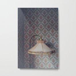Corner lamp Metal Print