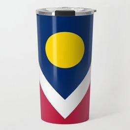 Denver City Flag Travel Mug