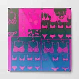Lingerie Pop Art Metal Print