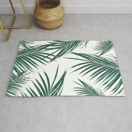 Green Palm Leaves Dream #2 #tropical #decor #art #society6 Rug