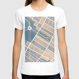 Jersey City Map T-shirt
