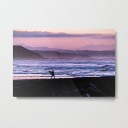 Back from surfing Metal Print