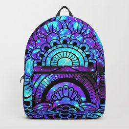 Mandala : Bright Violet & Teal Galaxy 2 Backpack